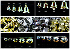 Gold or Silver Jingle Bells / Cat Bells - Sew On - 10mm - 12mm - 15mm - 20mm
