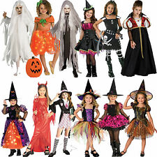 Child Halloween Fancy Dress Costume & Hat Outfit New Horror Zombie Kids Girls