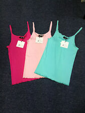 ladies seamless singlet tank top -3 colours  size 8-16 Just add sugar washable