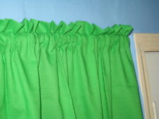 Handmade SOLID Red Yellow Black  Green  Blue window Curtain Valance