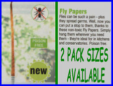 FLY PAPERS - FOR USE AROUND THE HOME OR BUSINESS. SOLD IN PACKS OF 4 or 8