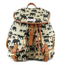 NEW COLLECTION GREEN RUCKSACK BACKPACK WITH A ELEPHANT DESIGN SCHOOL BAG