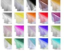 60 inch Square tablecloth Organza Overlay for wedding, baby shower, retaurant,