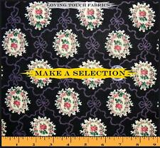 LOVELY VICTORIAN MEDALLION ROSES FABRIC (MAKE A SELECTION)