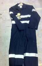 Coveralls Overalls BISLEY, Navy Long Sleeve NEW Reflective Tape 77R,82R,89R