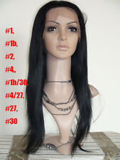 lace wig front lace wig 100% remy indian human hair silky straight many colors