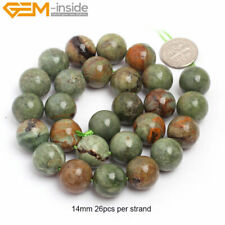 """Natural Stone Green Opal Stone Beads For Jewelry Making 15"""" Jewelry Beads"""