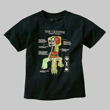 MINECRAFT ANATOMY OF A CREEPER Boy's T-Shirt, Shirt, Size 14-16 OR 18-20
