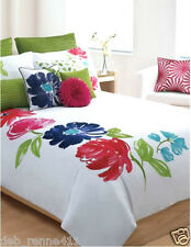 New Cynthia Rowley 3PC Set Duvet Standard Shams Floral Watercolor Queen or King