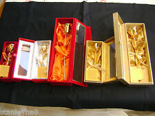 MOTHER'S DAY GIFT 24K Gold Dipped Real Rose - Various Sizes  HANDCRAFTED BOX NEW