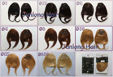 3Clips 25g Fashion Virgin Clip In Human Hair Bangs/Fringes Front Side Mix Colors