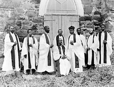 1895 AMERICAN BLACKS IN LIBERIA AFRICAN CLERGY PHOTO