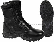 "Forced Entry 8"" Black Side Zipper Tactical Deployment Boot - Military SWAT Boots"