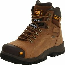 CAT Caterpillar Men Diagnostic Hi/High Waterproof Steel Beige Work Boot P89940