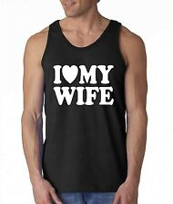 I Love my Wife TANK TOP Valentines Day gift super cute Husband LOVE tee