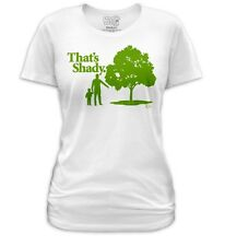 Funny Man Child Tree Shade That's Shady Quote Geeky Ladies Women Jr T-shirt top