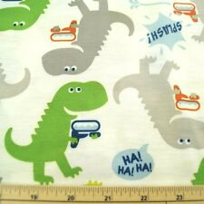 Dinosaurs With Water Pistols 100% Polyester Jersey Fabric