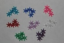 25qty  25 mm Starflake Star Paddlewheel Acrylic Transparent Bead Asst. Color