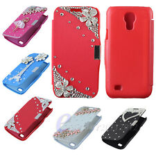Bling Diamond Leather Flip Hard Case Cover For Samsung Galaxy S4 SIV Mini i9190