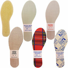 NEW MENS LADIES INSOLES TARTAN EXTRA THICK THIN ODOUR EATERS SANITIZED THERMAL