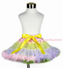 Easter Pink White Dots Waist Pink Lavender Blue Rainbow Girl Pettiskirt  1-8Year