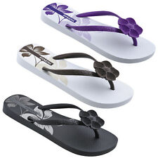 WOMENS LADIES FLAT THONG TOEPOST FLOWER BEACH FLIP FLOP SUMMER SANDALS SIZE