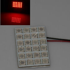 Red 24 5050 SMD Box Door Dome Car LED Light Panel Interior T10 Festoon Ba9s 12V
