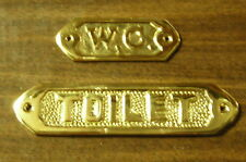 Beach Boat House Solid Brass Nautical Sign Plaque Toilet WC Water Closet Bath