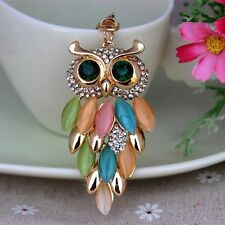 New Design OWL Crystal Car KeyChain Ring Rhinestone Purse Bag  Key Chain Gift