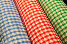 "1/4 Gingham Fabric Material for clothing, aprons, tablecloth Schools 44""wide"