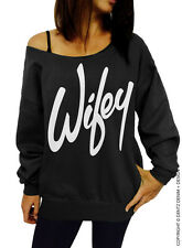 Wifey - Black Slouchy Oversized Sweatshirt Bride Bridesmaid Bachelorette Party