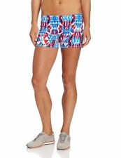 ASICS Women's Crystals Colorful Athletic Shorts, Royal / White