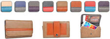 Kroo Graphite Wallet Case Cover Belt Holster Pouch Guard for HTC Smartphone 3