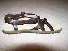 Women's Connie Bret Brown Leather Comfort Sandals New