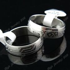 Mix 15pcs-100pcs Arc Silver Stainless Steel Womens Mens Rings Wholesale Lots New