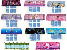 KIDS GIRLS BOYS WINDOW VALANCE WITH MULTIPLE DISNEY CHARACTERS/TV CHARACTERS