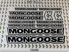 "12 Set MONGOOSE Bikes Bicycles Decals Stickers Frames 11"" COLORS Available A60V"