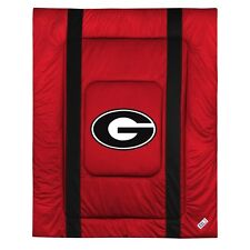 GEORGIA BULLDOGS SIDELINES COMFORTER AND PILLOW SHAM - 19-0322-19-0363