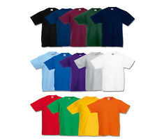 FRUIT OF THE LOOM T-SHIRT KINDER 104 116 128 140 152 164 NEU SHIRTS VIELE FARBEN