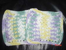 Assorted Hand Crocheted Dish Cloths Wash Rags Set of 2