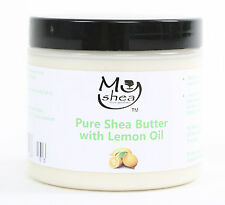 MyShea Whipped Pure Organic Moisturising Shea Butter Lemon Oil Grade A 200ml
