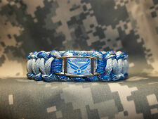 UNITED STATES AIR FORCE Custom 550 Paracord SURVIVAL Bracelet w/ Buckle AIM HIGH
