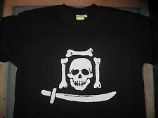 JOLLY ROGER T-SHIRT/pirates/sailing anarchy/stevenson/sea/punk/black flag/diy