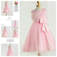 P8910 Pinks Christening Wedding Flower Girls Party Dresses SIZE 2,3,4,6,8,9,10T