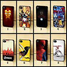 Comics Avengers Spider Iron Man Hulk Wolverine Case Fits for iPhone 4 5 6 plus