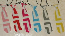 NEW Cotton Chevron Elastic Neck Tie  Turquoise Hot Pink Yellow Pink Gray Red