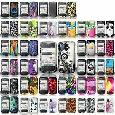 For ZTE Concord V768 T-Mobile Cover Phone Design Rubberized HARD Snap On Case