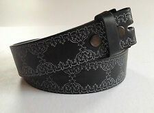 BELT - Leather Snap On To Suit Removeable Buckle, Embossed Design, 5 colours