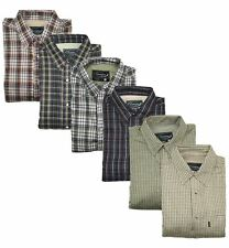 FLEECE LINED COUNTRY CHECK SHIRTS TRADITIONAL SHOOTING HUNTING FISHING FARMING