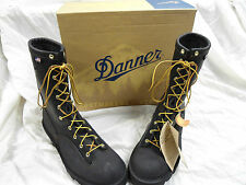 "NEW DANNER FLASHPOINT II 10"" BLK WILDLAND FIREFIGHTING BOOTS MADE IN USA"
